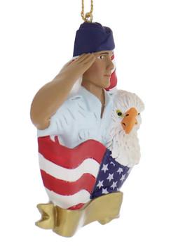 Hispanic U.S. Air Force Airman Ornament side