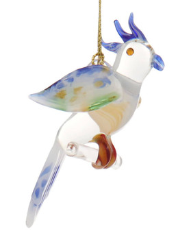 Cockatoo Mouth-Blown Egyptian Glass Ornament