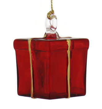 Gift Box Mouth-Blown Egyptian Glass Ornament side