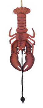 Pull String Jumping Lobster Wood Ornament
