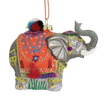 South Asia Palace Elephant Glass Ornament