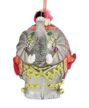 South Asia Palace Elephant Glass Ornament fornt