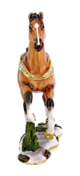 Stallion Horse Jewelry-Trinket Box front