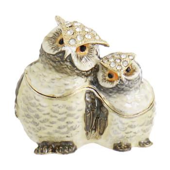 Owl Pair Jewelry-Trinket Box