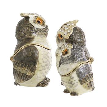 Owl Pair Jewelry-Trinket Box left right side