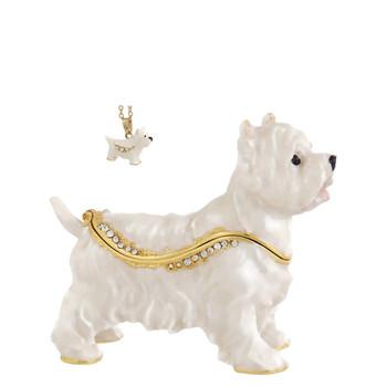 Westie Dog Jewelry-Trinket Box and Necklace
