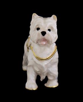 Westie Dog Jewelry-Trinket Box and Necklace front