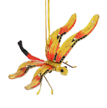 Cloisonne Articulated Dragonfly Ornament