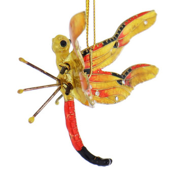 Cloisonne Articulated Dragonfly Ornament right side