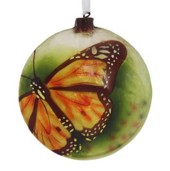 Yellow Butterfly Capiz Ornament
