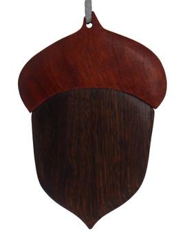 Acorn Intarsia Wood Ornament