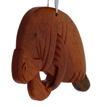 Manatee Intarsia Wood Ornament
