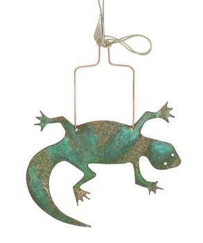 Lizard Copper Ornament