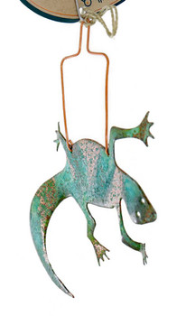 Lizard Copper Ornament side