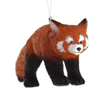 Red Panda Ornament front right side