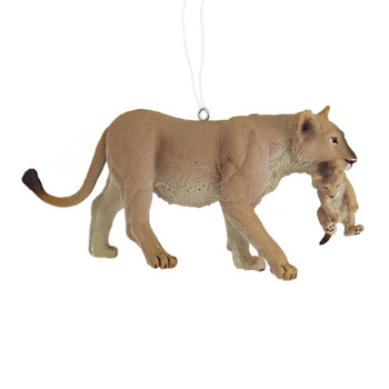 Mommy Lion with Baby Ornament