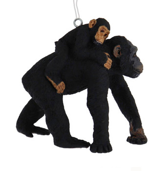 Chimp with Baby Ornament