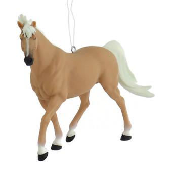 Palomino Horse Ornament front
