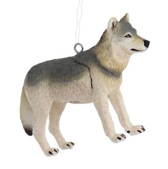 Gray Wolf Ornament right side