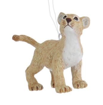 Small Lion Cub Ornament front