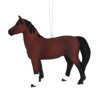 Male Morgan Horse Ornament left side