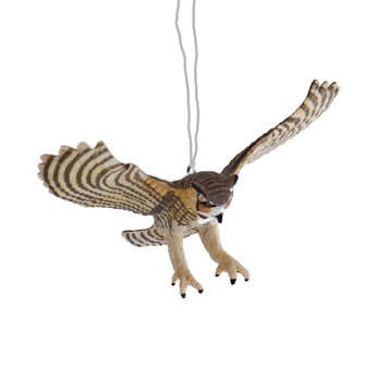 Great Horned Owl Ornament front