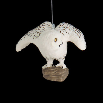 Snowy Owl Ornament front