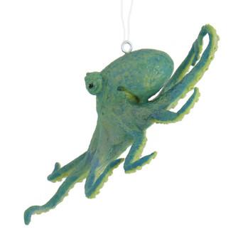 Green Octopus Ornament