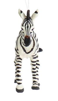 Baby Zebra Ornament front