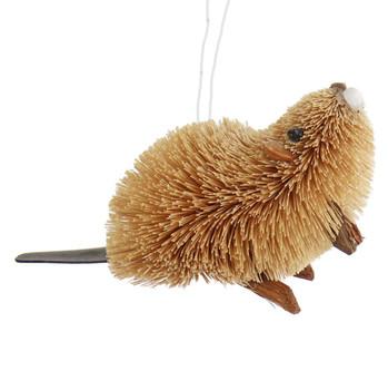 Buri Bristle Natural Beaver Ornament - Small