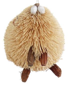 Buri Bristle Natural Beaver Ornament - Small front
