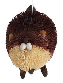 Buri Bristle Brown Beaver Ornament front