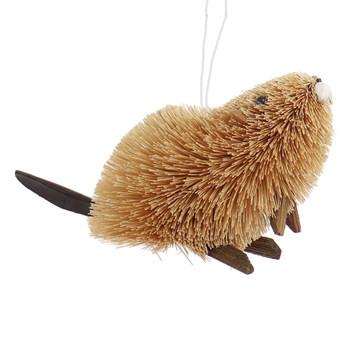 Buri Bristle Natural Beaver Ornament - Large