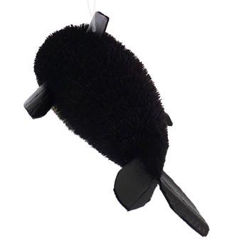 Buri Bristle Extra Large Black Dolphin Ornament back