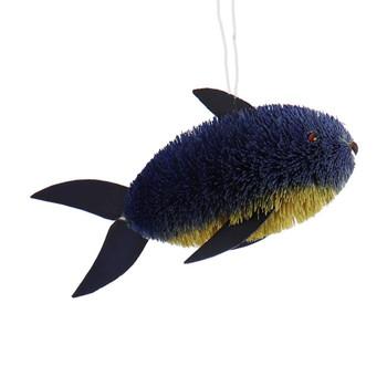 Buri Bristle Blue Fish Ornament - Large
