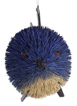Buri Bristle Blue Fish Ornament - Mid-Sized front