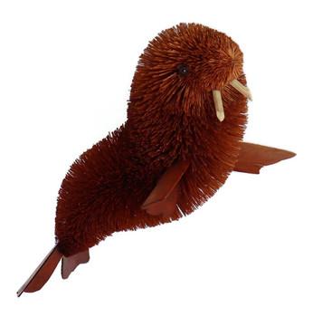Buri Bristle Large Walrus Figurine or Ornament right side