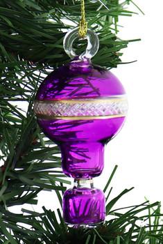Small Hot Air Balloon Mouth-Blown Egyptian Glass Ornament garland