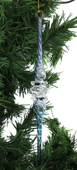 Fancy Icicle Mouth-Blown Egyptian Glass Ornament garland