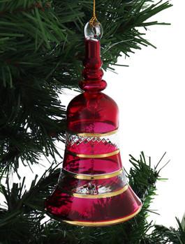 Bell Mouth-Blown Egyptian Glass Ornament garland 1