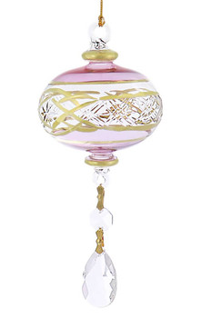 Crystal Drop xx Mouth-Blown Egyptian Glass Ornament