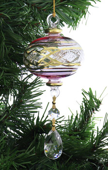 Crystal Drop xx Mouth-Blown Egyptian Glass Ornament garland 1