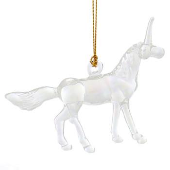 Unicorn Mouth-Blown Egyptian Glass Ornament