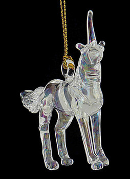 Unicorn Mouth-Blown Egyptian Glass Ornament front