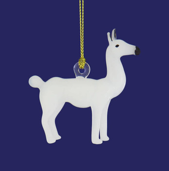 Llama Mouth-Blown Egyptian Glass Ornament right side