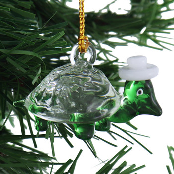 Small Funky Turtle Mouth-Blown Egyptian Glass Ornament garland