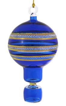 Hot Air Balloon Mouth-Blown Egyptian Glass Ornament