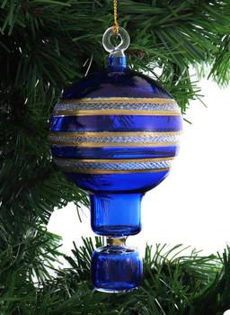 Hot Air Balloon Mouth-Blown Egyptian Glass Ornament garland