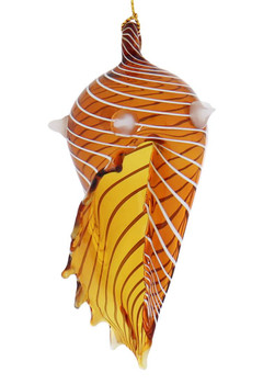 Seashell Mouth-Blown Egyptian Glass Ornament side