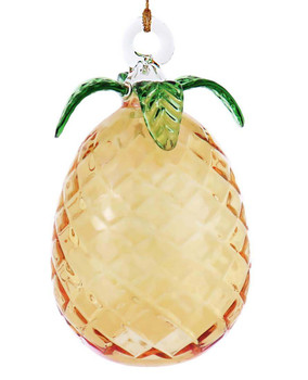Pineapple Mouth Blown Egyptian Glass Ornament